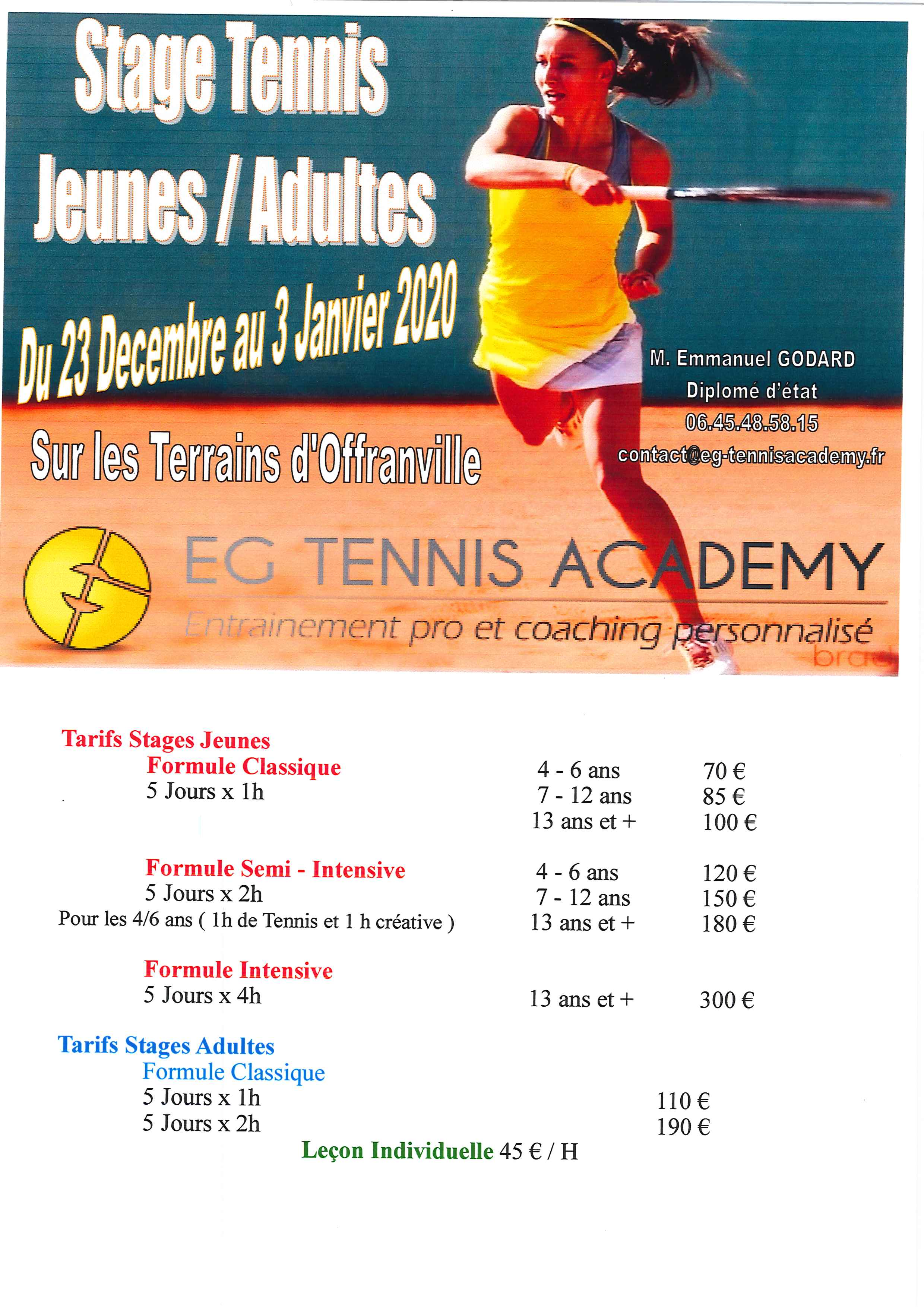 Stages tennis 122019